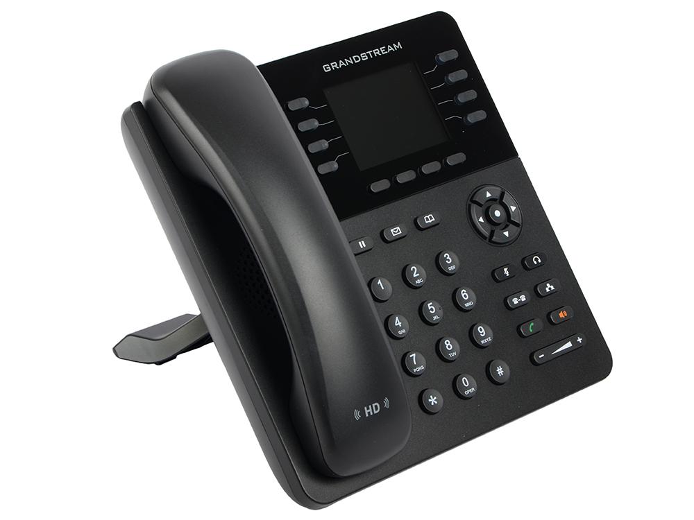 Телефон IP Grandstream GXP-2135 8 линий 4 SIP-аккаунта 2x10/100/1000Mbps LCD PoE sip телефон escene es330 pen 3 sip аккаунта 132x64 lcd дисплей 8 программируемых клавиш 12 клавиш быстрого набора blf xml ldap регулируемая подст