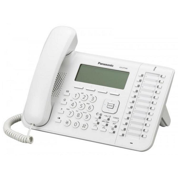Телефон Panasonic KX-DT546RU белый телефон