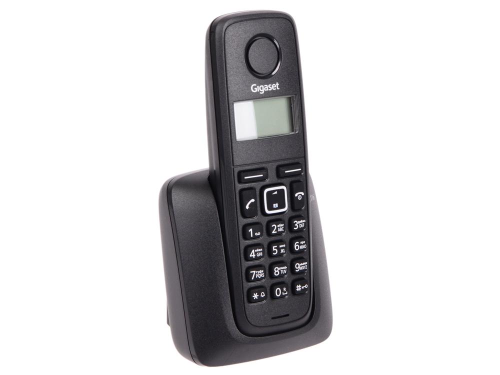 Радиотелефон DECT Gigaset A116 черный gigaset gigaset e630 3 6 черный дисплей