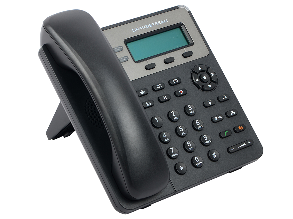 Телефон IP Grandstream GXP-1615 2 линии 1 SIP-аккаунта 2x10/100Mbps LCD