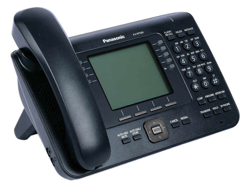 Телефон IP Panasonic KX-NT560RUB черный цена