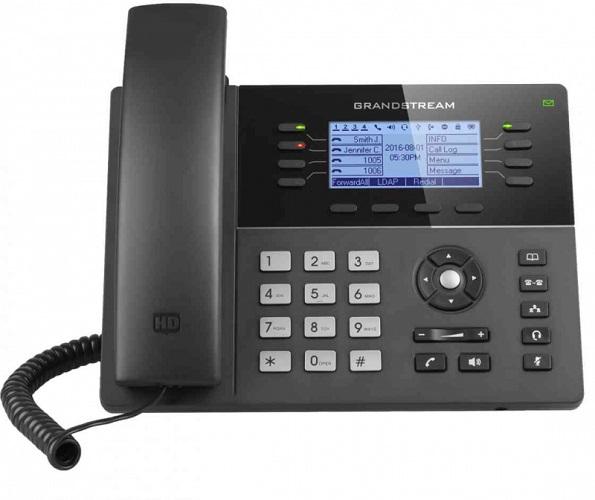 Телефон IP Grandstream GXP-1780 8 линий 4 SIP-аккаунта 2x10/100Mbps LCD PoE BLF USB