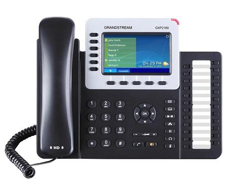 Телефон IP Grandstream GXP-2160 6 линий и SIP-аккаунтов 2x10/100/1000 Mbps цветной LCD PoE USB Bluet