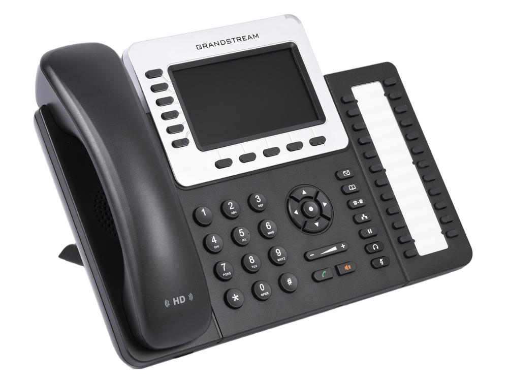 Телефон IP Grandstream GXP-2160 6 линий и 6 SIP-аккаунтов 2x10/100/1000 Mbps цветной LCD PoE USB Bluet sip телефон grandstream wp820