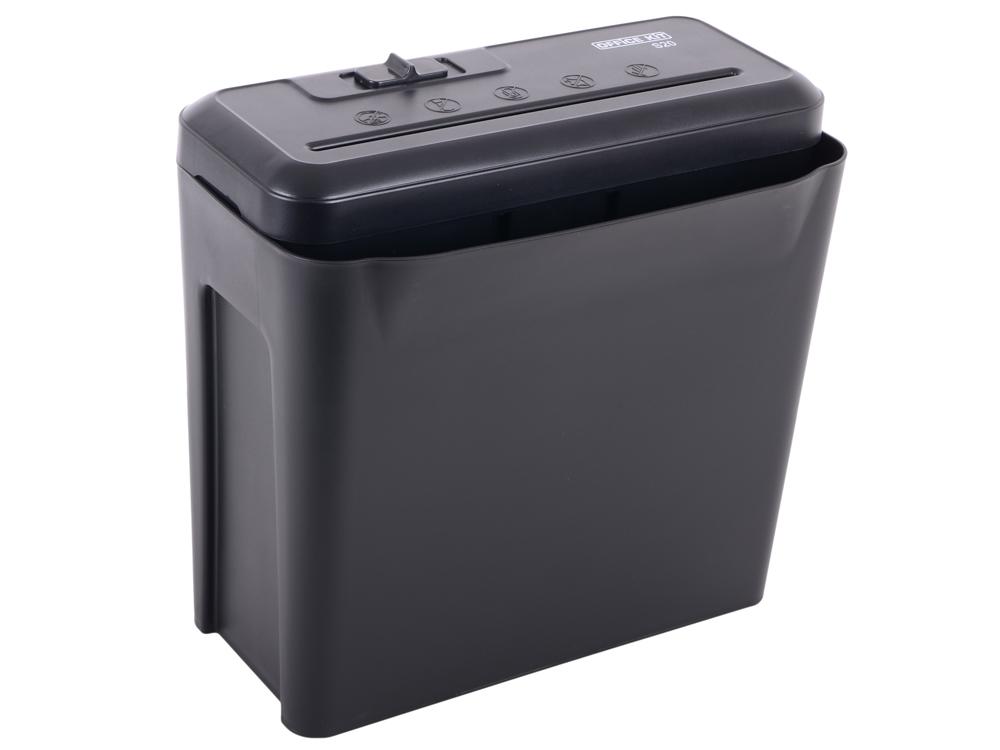 купить Шредер Office Kit S20 7,0 (DIN P-1) полоса 7мм, 6 листов, 10 литров по цене 1590 рублей