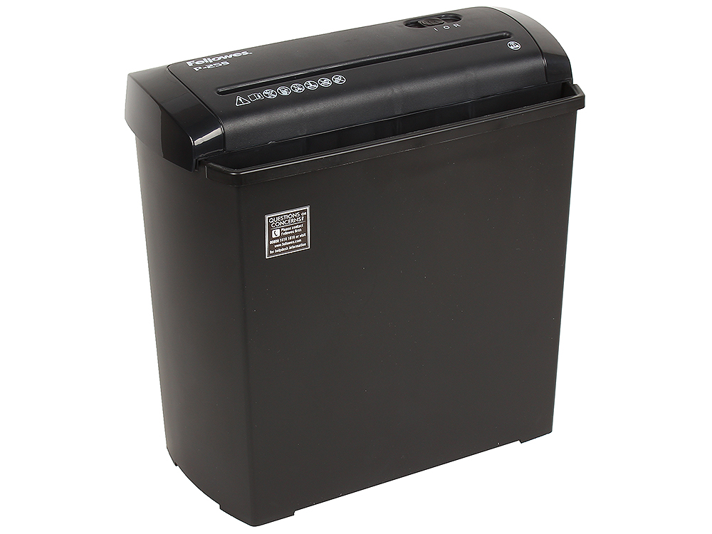 Шредер Fellowes Powershred P-25S шредер fellowes powershred 11c din p 3 4х52мм 11лст 18лтр safety lock