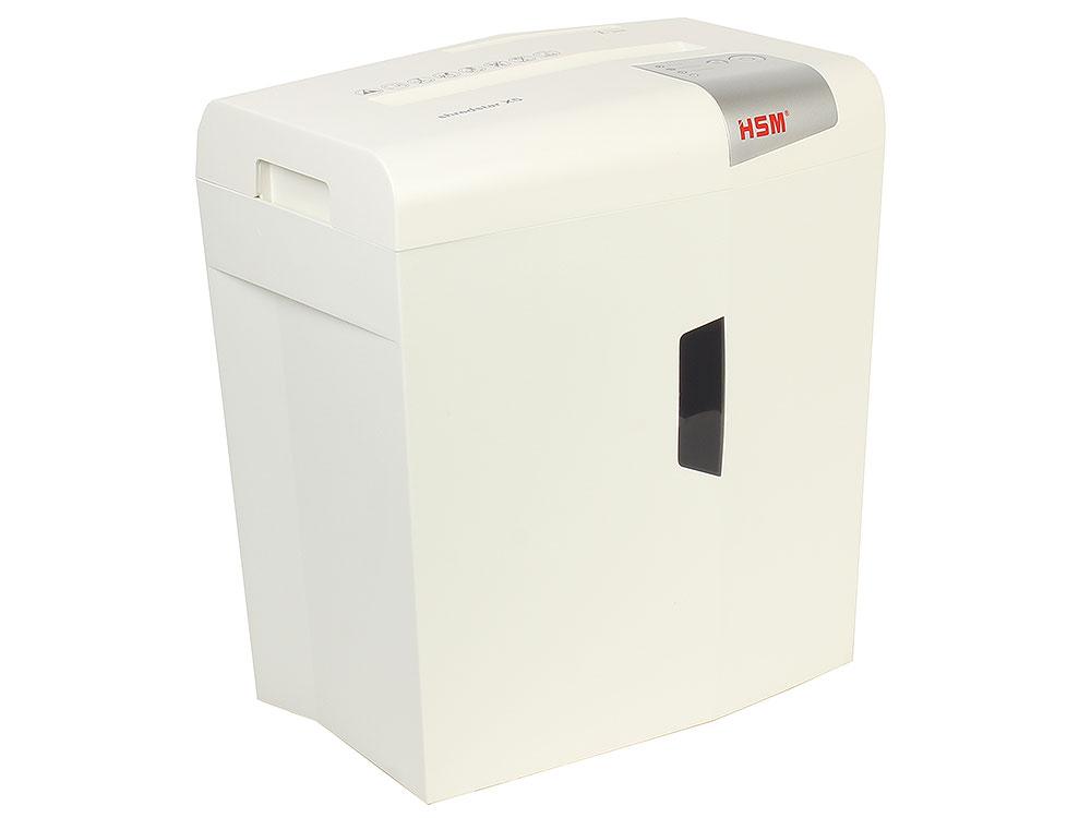 Шредер HSM Shredstar X5-4.5x30 White (DIN P-4 O-1 T-2 E-2 F-1) фрагм.4,5х30мм,6 листов,18 литров,Уничт.скобы,скрепки,пл.карты,CD шредер office kit s35 4x40 din p 4 o 3 t 4 e 3 фрагмент 4x40мм 9 листов 14 литров уничт скобы пл карты cd