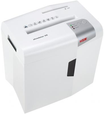 Уничтожитель документов HSM Shredstar X8-4.5x30 WHITE (DIN P-4 O-1 T-2 E-2 F-1) фрагм.4,5х30мм,9 листов,18 литров,Уничт.скобы,скрепки,пл.карты,CD hsm classic 102 2