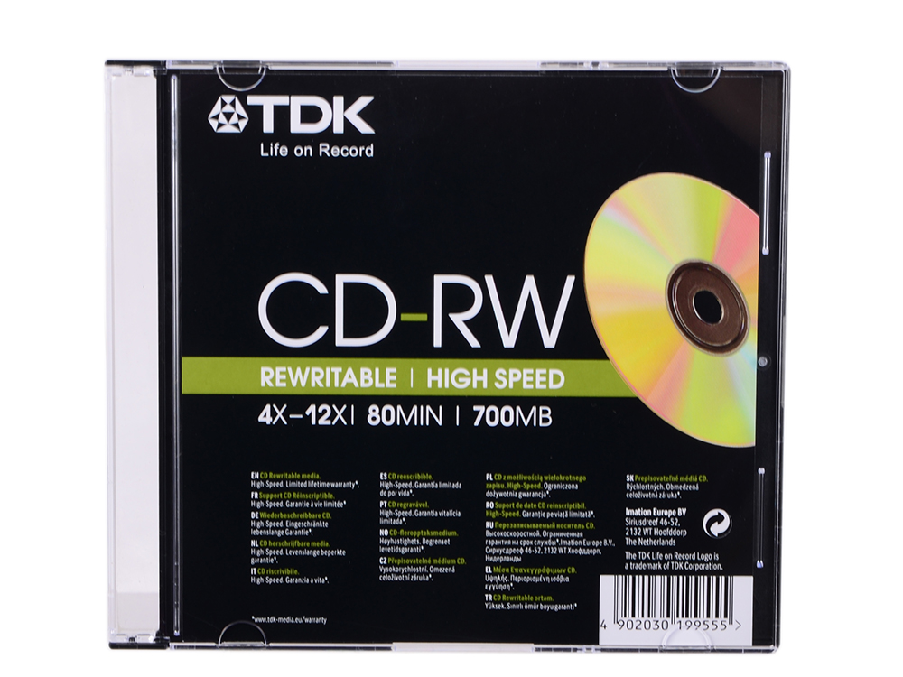 Диск CD-RW 80min 700Mb TDK 12x Slim cd диск deep purple purplexed 1 cd