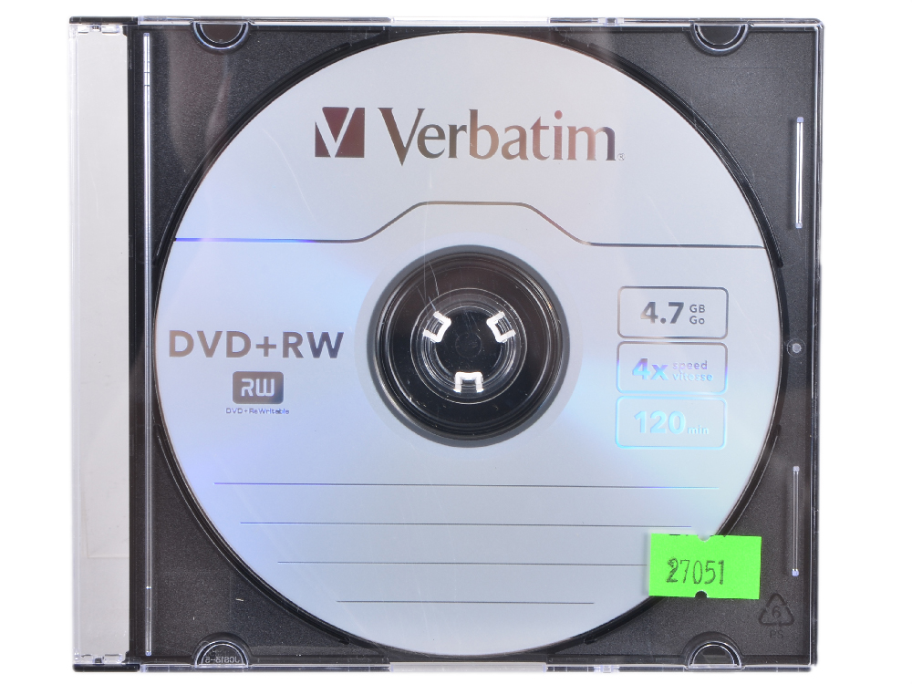 Диски DVD+RW Verbatim 4x 4.7Gb SlimCase 3шт 43636\297 4x spectral adjustable spikes 4x for he rack