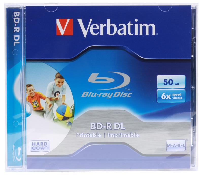 Диск Blu-Ray VERBATIM BD-R 50Gb Jewel Printable (43736\737\735) 6x диск blu ray verbatim bd re 2x 25 gb 10 шт cake box 43694