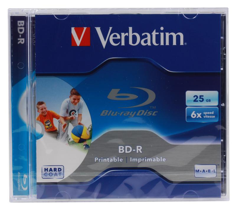 BD-R Verbatim 25Gb 6x Jewel Ink Print цена