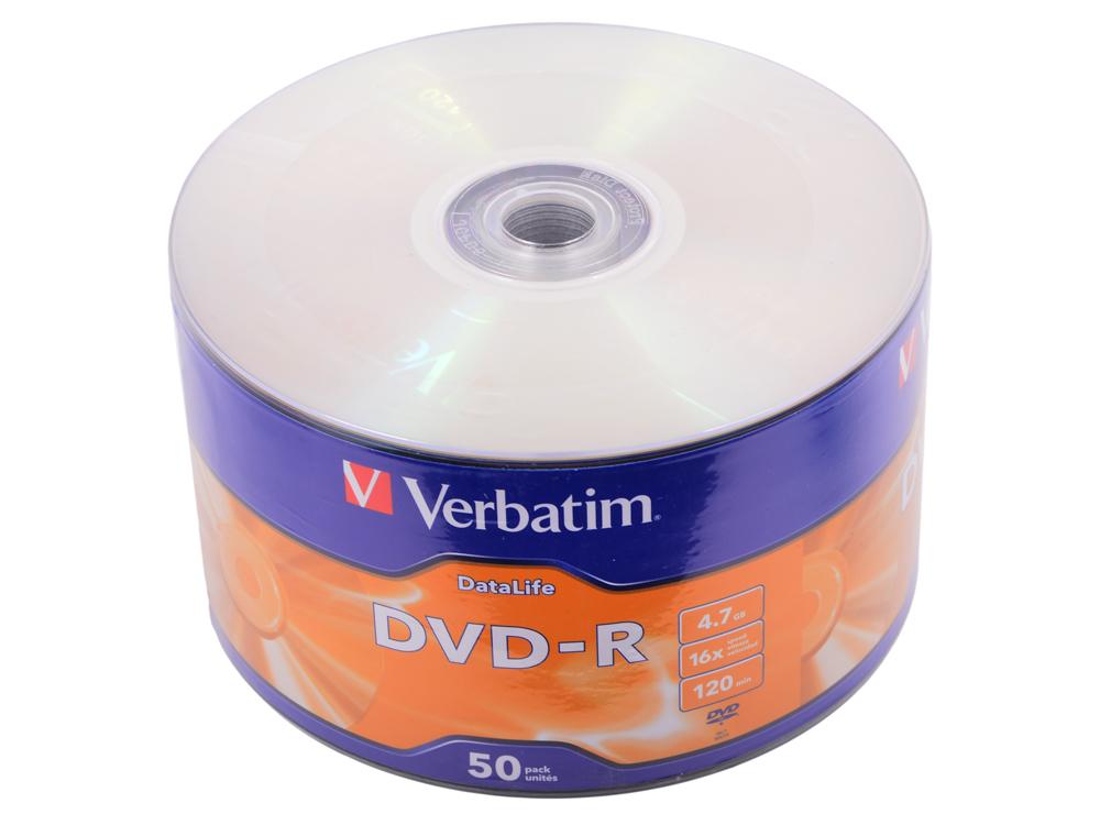 Диски DVD-R 4,7GB Verbatim 16x Shrink/50 DataLife стоимость