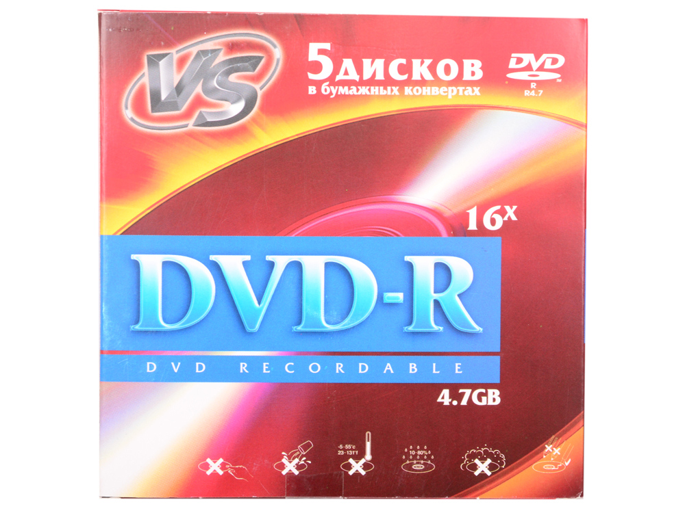 Диски DVD-R VS 16x 4.7Gb 5шт 50 cent vs eminem 2 dvd