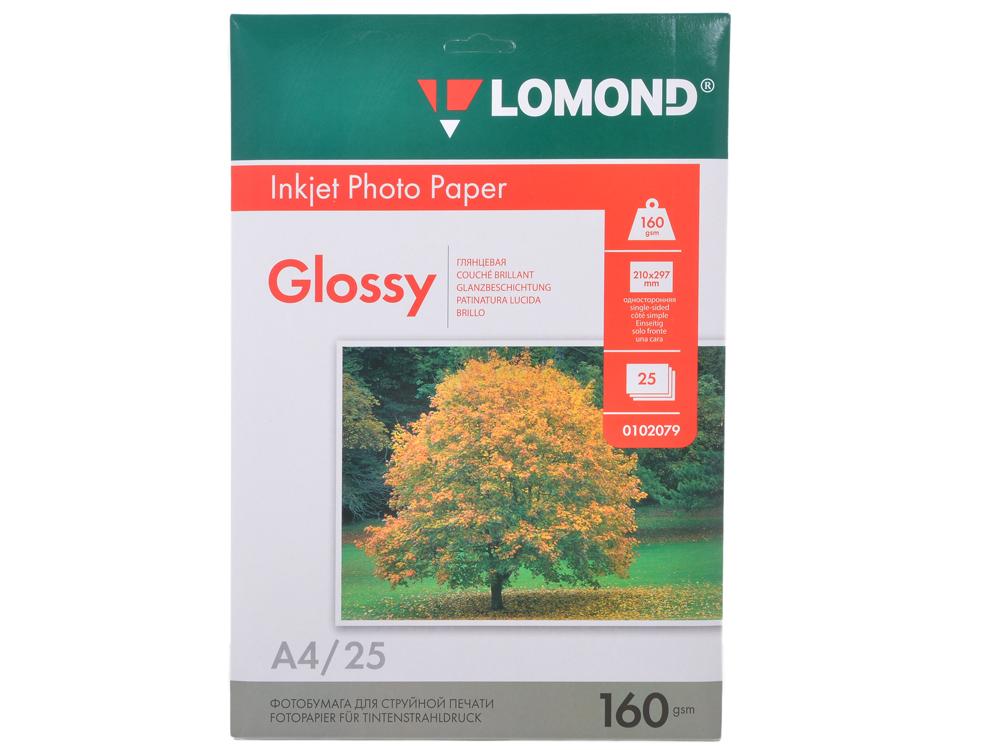 0102079 бумага LOMOND (A4, 160гр, 25л) Photo Глянцевая, 1стор.