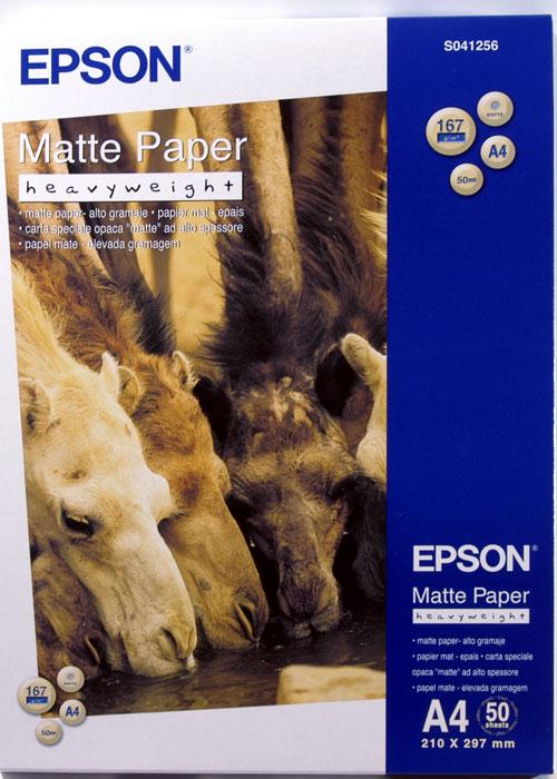 S041256 бумага EPSON (А4, 50л, 167g) Matte Heavyweight цена