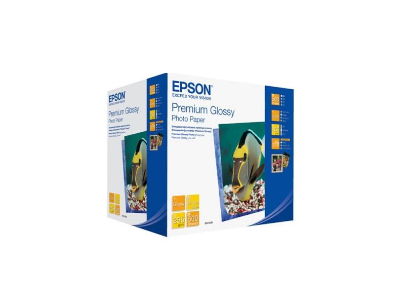 C13S041826 Бумага EPSON Premium Glossy Photo Paper (10x15см, 500 листов, 255 г/м2) бумага epson c13s041330 premium semiglossy photo paper 100 8m 251г м2