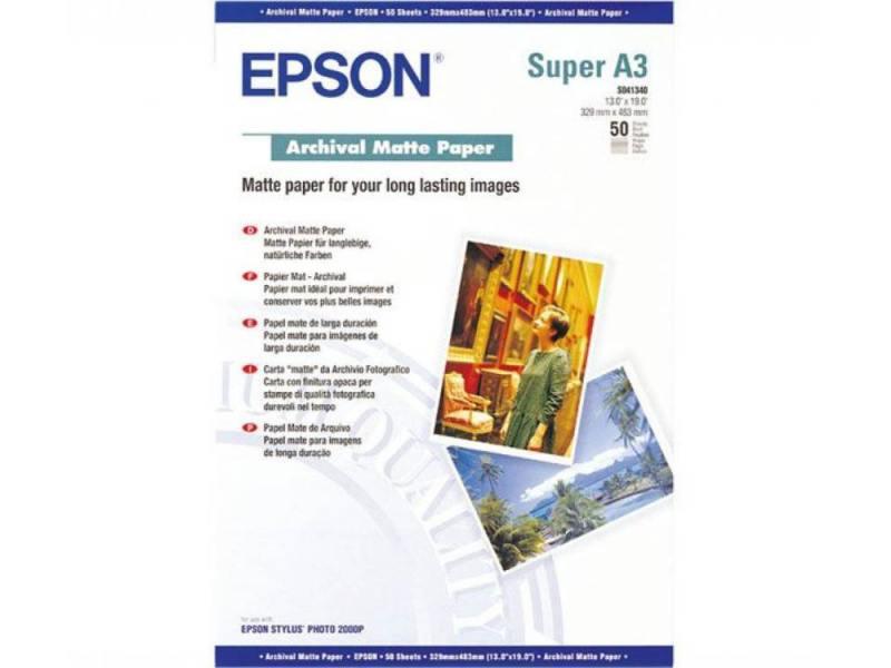 Фотобумага Epson A3 192г/кв.м матовая 50л C13S041340 фотобумага epson c13s041826