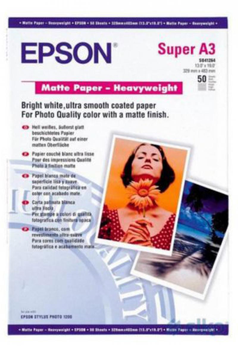 Фото - Фотобумага Epson A3 167г/м2 матовая 50л C13S041261 фотобумага