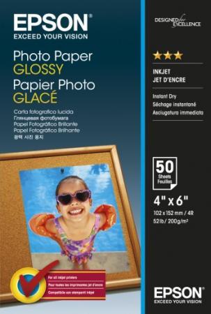 Фото - Фотобумага Epson 10x15см 200г/м2 глянцевая 50л C13S042547 canon фотобумага глянцевая 0775b003