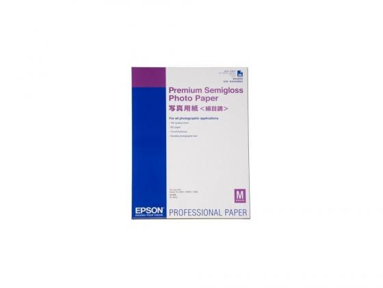 Фотобумага Epson Premium Glossy Photo Paper А2 255г/м2 глянцевая 25л C13S042091 бумага epson c13s041330 premium semiglossy photo paper 100 8m 251г м2