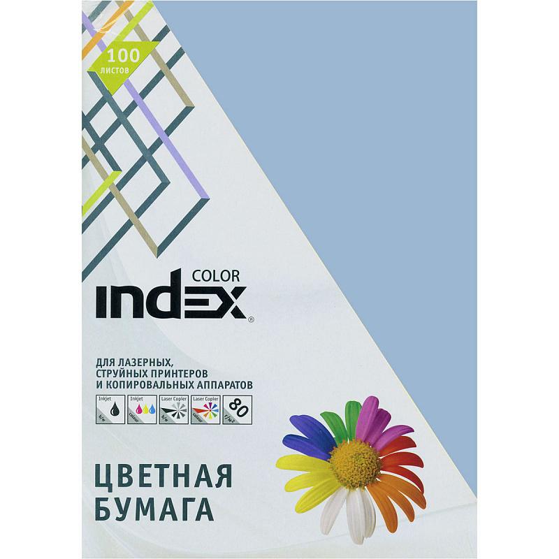 Картинка для Цветная бумага Index Color IC88/100 A4 100 листов сине-голубой