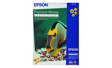 Фотобумага Epson Premium Glossy Photo Paper A4 (20 листов) (255 г/м2) бумага epson c13s041330 premium semiglossy photo paper 100 8m 251г м2