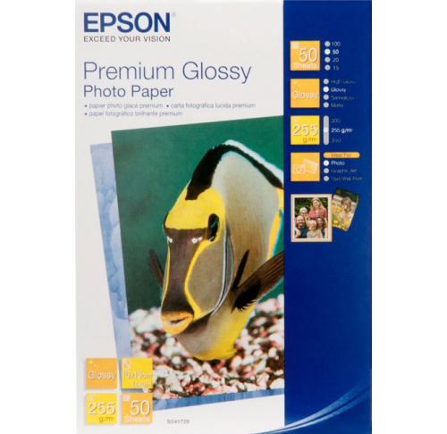 Фотобумага Epson Premium Glossy Photo Paper 10x15 (50 листов) (255 г/м2) фотобумага epson value glossy photo paper 10x15 50 листов c13s400038