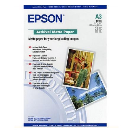 Бумага Epson A3 192 г/кв.м Archival Matte Paper [C13S041344] 50л цена