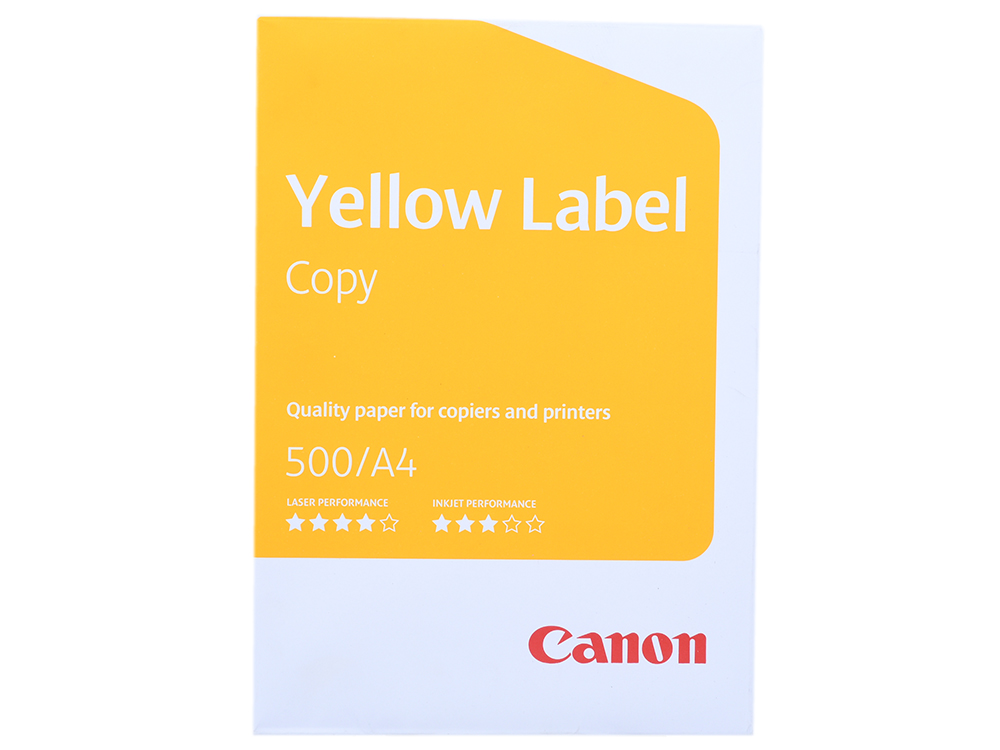 Бумага Canon Yellow Label Copy A4/80г/м2/500л. фото