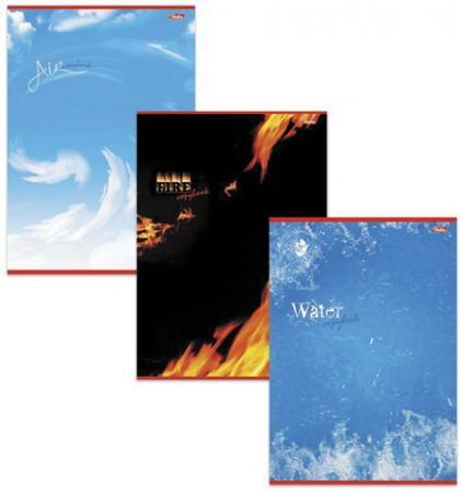 Фото - Тетрадь 48 л., А4, HATBER, клетка, выборочный лак, Стихии природы тетрадь 80 л а4 hatber клетка выборочный лак аквалайф