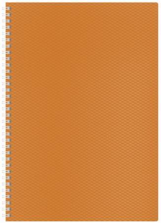 Фото - Тетрадь 80 л., А4, HATBER, гребень, клетка, пластиковая обложка, DIAMOND-оранжевая тетрадь 80 л а4 hatber клетка выборочный лак аквалайф