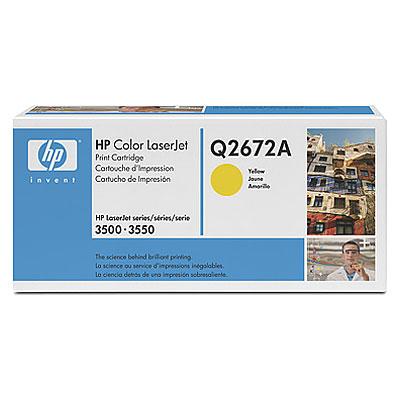 Картридж HP Q2672A для CLJ 3500. Жёлтый. 4000 страниц. картридж nvp совместимый hp ce402a для clj color m551 6000k жёлтый