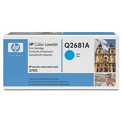 Картридж HP Q2681A голубой (cyan) 6000 стр. для Color LaserJet 3700 картридж струйный hp c9391ae n 88xl cyan with vivera ink