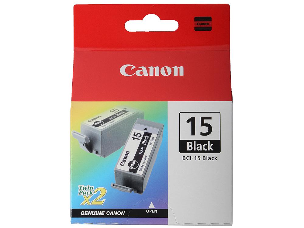 Картридж Canon BCI-15Bk для BJ-I70. Двойная упаковка. Черная. 121 страниц. картридж canon bci 6 yellow 4708a002