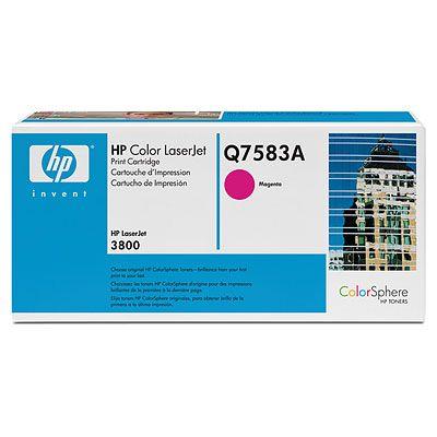 Картридж HP Q7583A для принтеров HP Color LaserJet 3800. Пурпурный. 6000 страниц. тонер картридж cactus cs q7583a пурпурный для hp clj cp3505 3800 6000стр