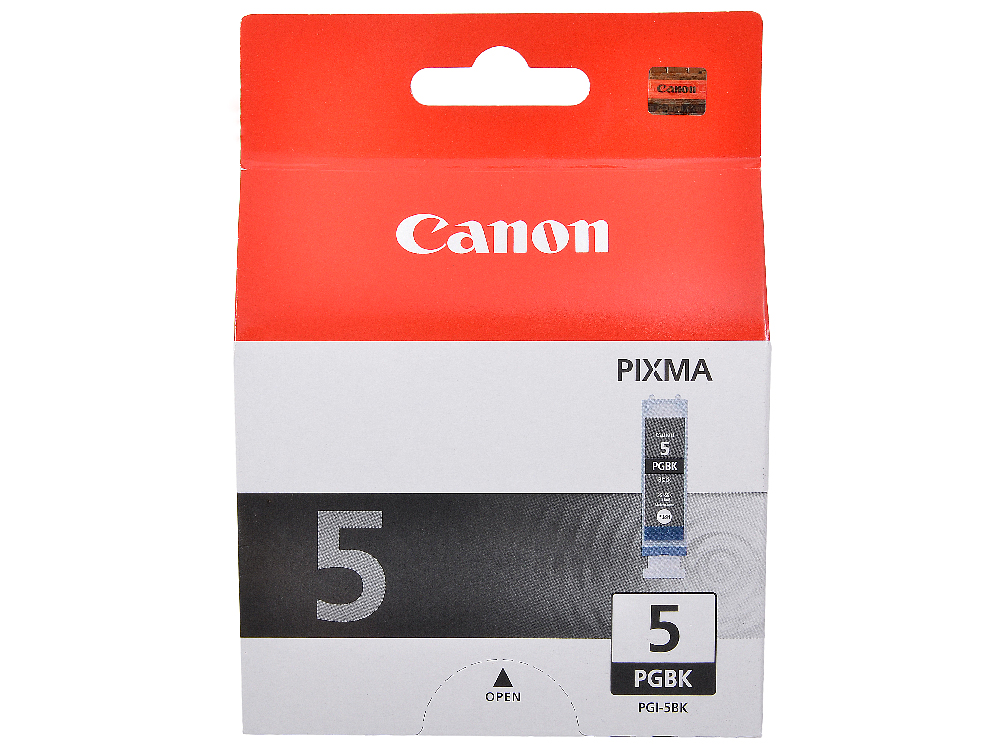 Картридж Canon PGI-5Bk для PIXMA MP800/MP500/iP5200/iP5200R/iP4200R/IX4000/IX5000. Чёрный. 505 страниц. картридж canon pgi 7bk для pixma mx7600 pixma ix7000 чёрный 570 страниц