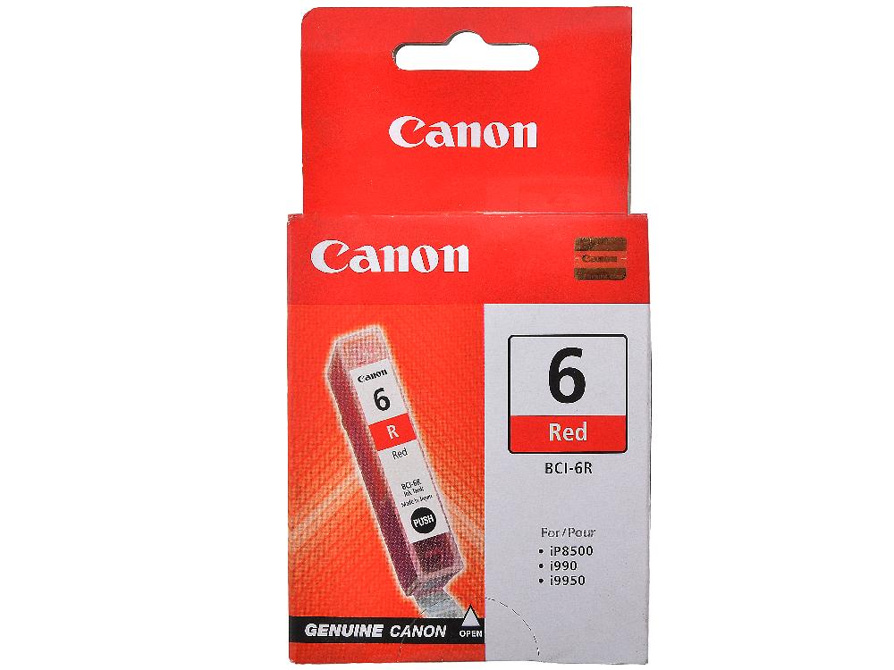 цена на Чернильница Canon BCI-6R для BJС-8200/S900/9000/800//i560/i865/i905D/950/965/9100. Красный. 270 страниц.
