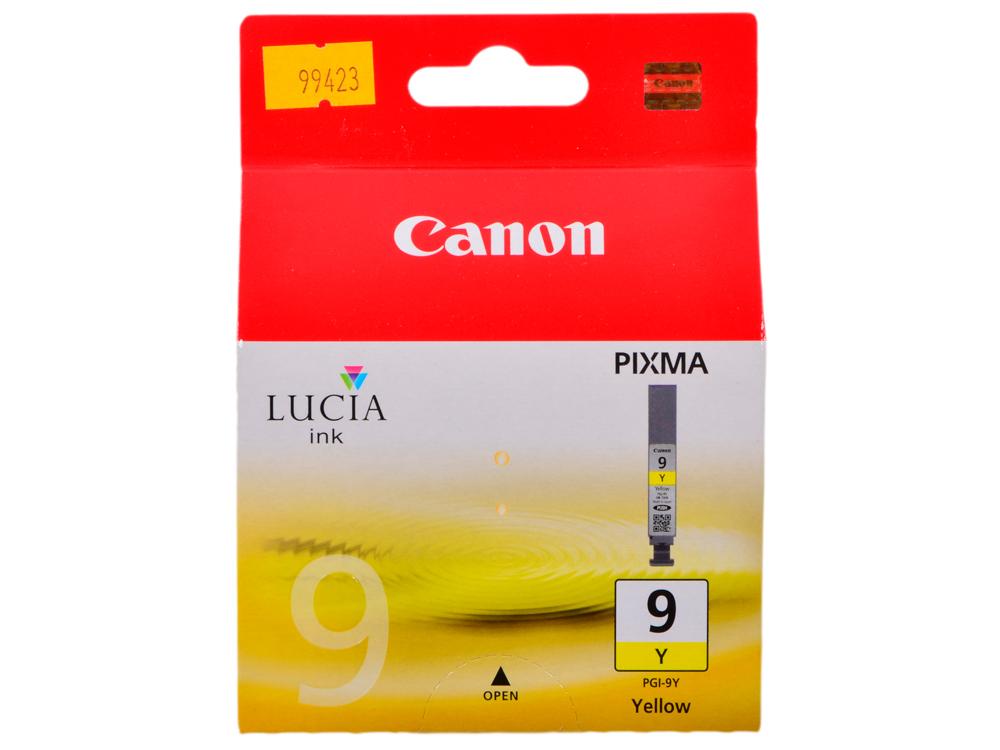 Картридж Canon PGI-9Y желтый (yellow) 1200 стр. для Canon Pixma Pro9500 / Pro9500 Mark II / iX7000 / MX7600 картридж canon pgi 9r красный red 1500 стр для canon pixma pro9500 pro9500 mark ii ix7000 mx7600