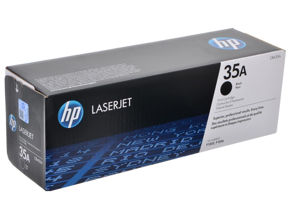 Картридж HP CB435A (черный для LJ P1005/P1006, 1500 страниц) тонер cactus cs mpt7 80 для hp lj p1005 p1006 p1100 p1102 scc черный 80грамм флакон
