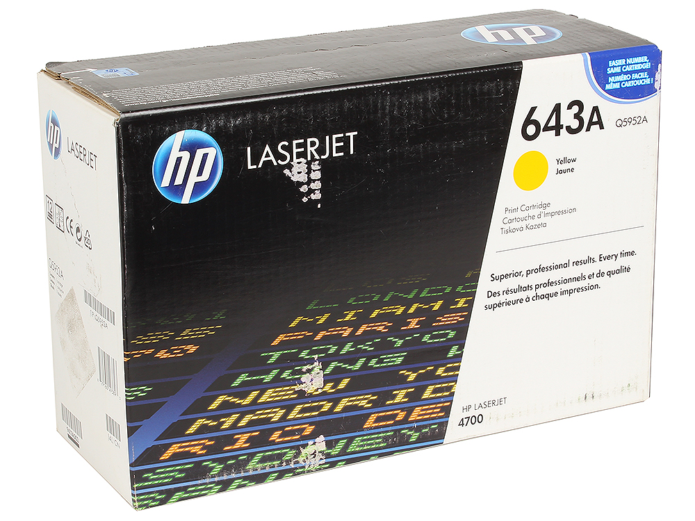 Картридж HP Q5952A (Color LJ4700) желтый картридж hp 650a желтый [ce272a]