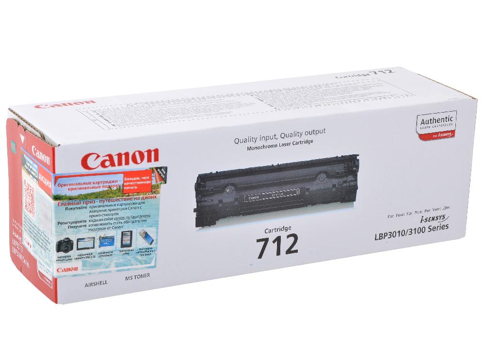 Картридж Canon 712 для принтеров LBP 3010_3020. Чёрный. 1500 страниц. цена и фото