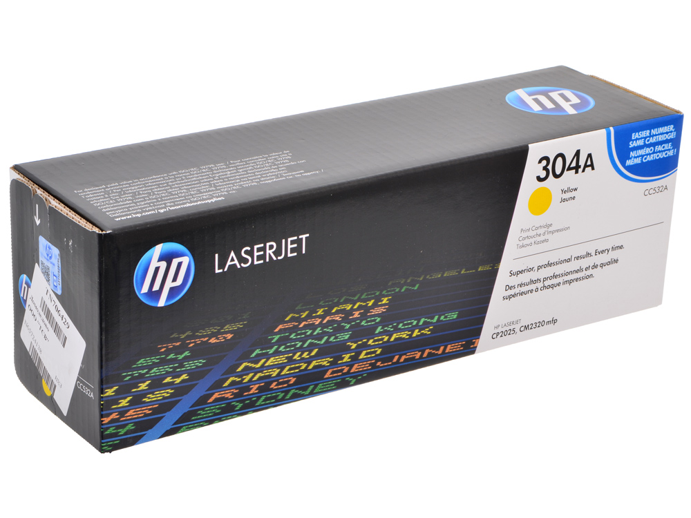 Картридж HP CC532A Желтый CLJ 2025/2320