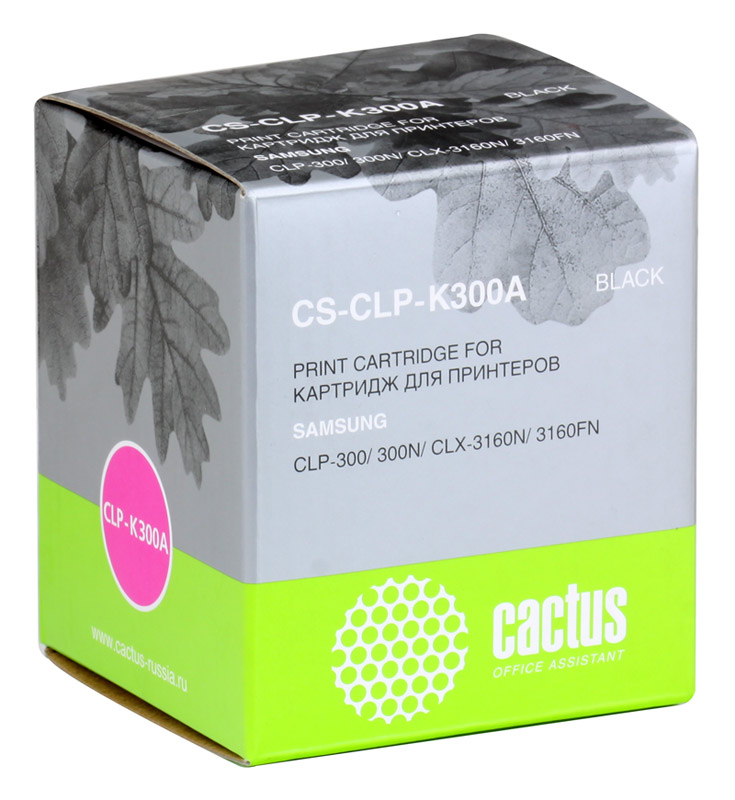 Картридж Cactus CS-CLP-K300A для принтеров SAMSUNG CLP-300/300N/CLX-3160N/3160FN, черный, 2000 стр.