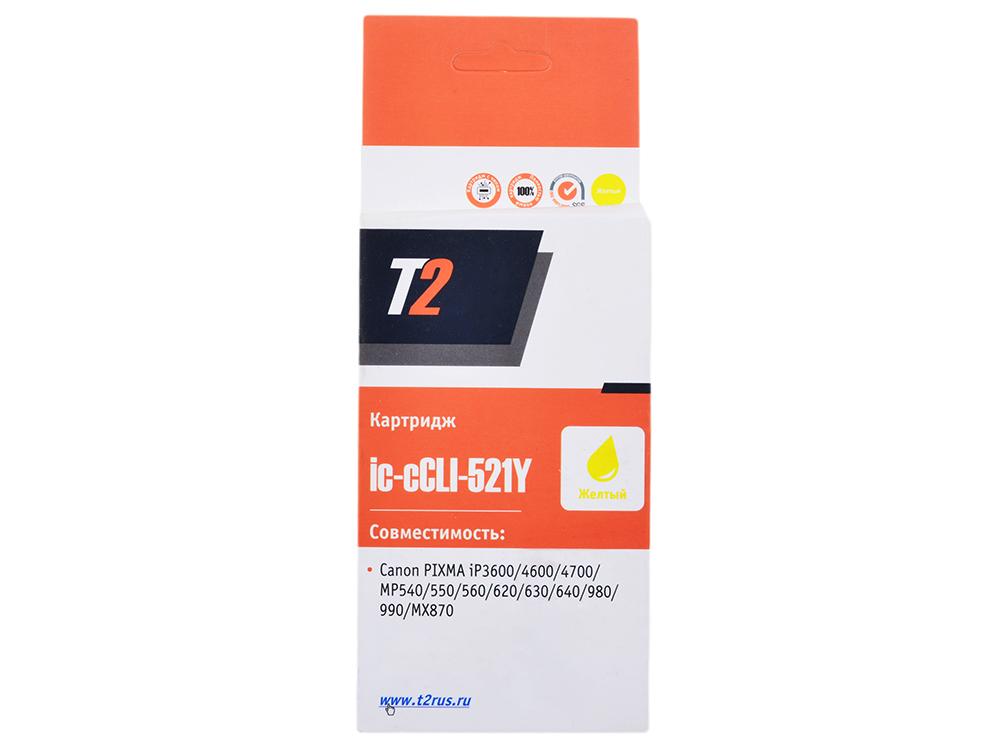 Картридж T2 IC-CCLI-521BY Yellow (с чипом) картридж t2 ccli 451y xl с чипом