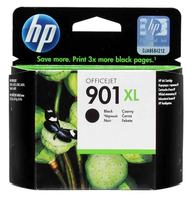 Картридж HP 901XL (CC654AE) черный (black) 700 стр 13,8 мл для Officejet J4580/4640/4680 картридж hp cc654ae 901xl black для j4580 4660