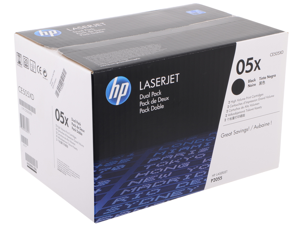 Картридж HP CE505XD для принтеров LaserJet P2055.Черный. 6500 страниц. alzenit for hp p 2035 2055 p2035 p2055 used fuser assembly rm1 6406 rm1 6405 laserjet printer parts