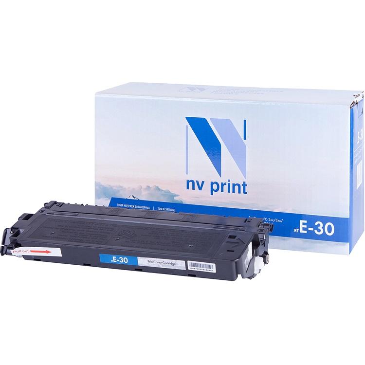 Картридж NV-Print совместимый Canon E-30 для FC-2xx/3xx/530/108/208; PC-7xx ; PC-8xx. Чёрный. 4000 страниц. картридж canon rp 108 10x15 для selphy cp