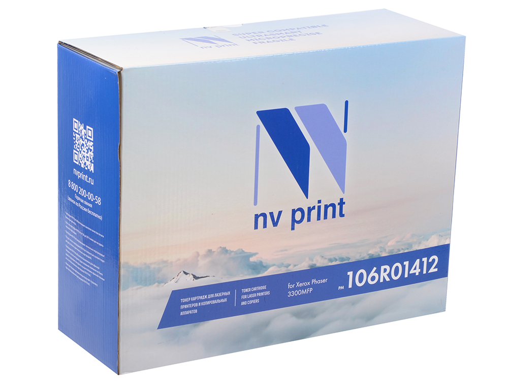цена на Картридж NV Print совместимый Xerox для Phaser 3300MFP. Чёрный. 8000 страниц. (106R01412)