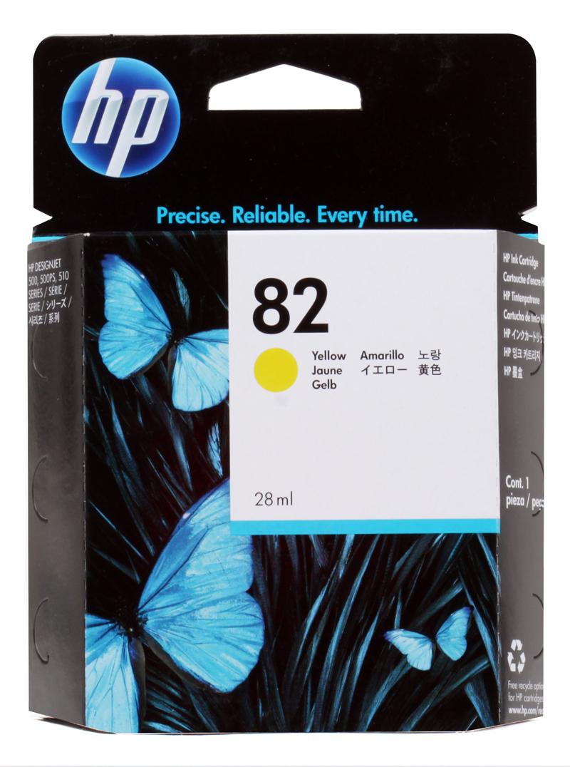 Картридж HP CH568A (№82) желтый 28мл Designjet 500/510 все цены